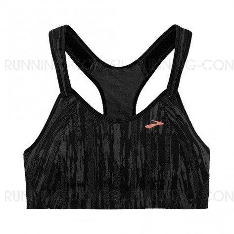 BROOKS Brassière Rebound Racer Femme   Black / Corail