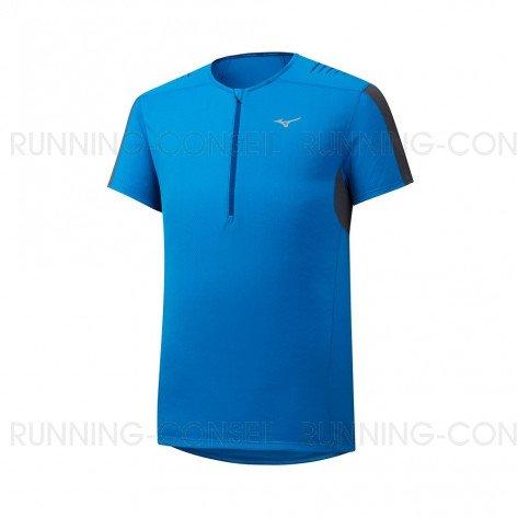 MIZUNO Tee-Shirt Trail manches courtes ENDURA TRAIL HZ Homme   Brillant Blue   Collection Printemps-Été 2019