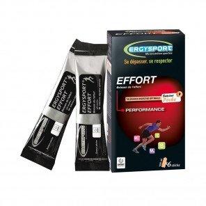 ERGYSPORT Boisson Effort - Étui de 6 sticks de 30g | Pêche