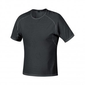 GORE® BASE LAYER MAILLOT MANCHES COURTES HOMME | BLACK | Collection Printemps-Été 2019