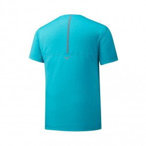 MIZUNO Tee-Shirt manches courtes SOLARCUT COOL ACTIVE PERFORMANCE Homme | Peacock Blue