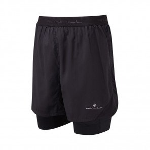 RONHILL SHORT TWIN REVIVE STRIDE Homme | ALL BLACK